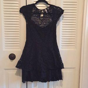 Free People black lace dress, size 4
